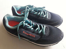Kangaroos Vintage Womens Blue Zippered Pocket Lace Up Sneakers Size 9