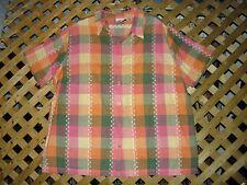 Fashion Bug Pink & Green & Yellow Plaid Cotton Blouse / Top Plus Size 22/24 NEW!