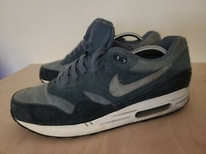 Nike Air Max 1 Armory Slate UK Size 10 Trainers Suede