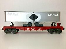 "*LIONEL 6-9149* ""CP RAIL FLAT CAR W/VANS"""