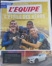 "Journal l'Equipe collector de juillet 2018 ""L'ETOILE DES HEROS"". France 2018"
