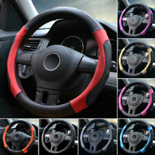 15''/38cm Car SUV Microfiber Leather Steering Wheel Cover Non-Slip Air Soft Grip