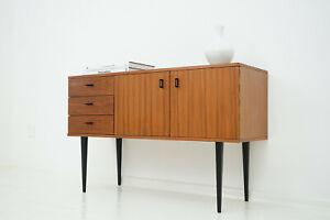 50er 60er Walnut Sideboard Kommode Mid Century Vintage 50s 60s