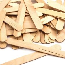 50pcs Art and Craft Jumbo Flat Natural Wood Lolly Sticks New UK Seller