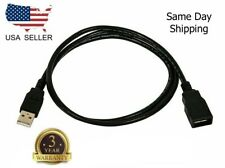3ft (3 Feet) USB 2.0 A Male to A Female Extension 28/24AWG Cable Gold Plated