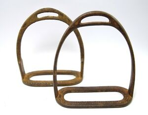 India Vintage Collectible Horse Stirrup pair Pedal Farm House Decor. G42-155 US