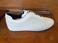 HUGO BOSS GREEN Timeless Tenn Mtmb Mercedes Benz Leather Sneakers 100 White