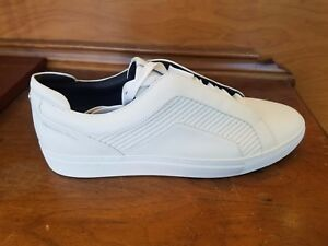 HUGO BOSS GREEN Timeless Tenn Mtmb Mercedes Benz Leather Sneakers 100 White