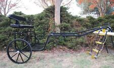 "Ez Entry Horse Cart-Pony&Cob w/Steel ""C"" Springs w/Curved Shafts 24"" Solid Tires"