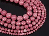"Grade AAA Natural Rhodochrosite Gemstone Round Beads 15.5"" 6mm 8mm 10mm 12mm"