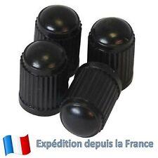 4x Bouchons / Capuchons de valves en plastique ABS noir pour Auto Moto Vélo