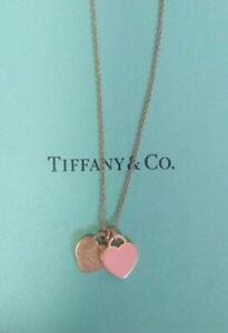 Tiffany & Co. Return to Heart Pendant Necklace Pink