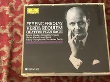 ferenc fricsay - verdi :requiem - quattro pezzi sacri . double cd