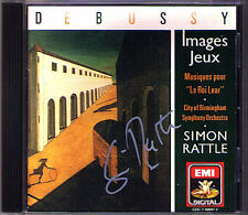 Simon RATTLE Signiert DEBUSSY Jeux Images Le Roi King Lear CD CBSO EMI 1990