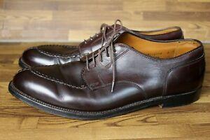 Mens ALDEN Split Toe Brown Leather Derby Shoes SHERMAN BROS 10.5C #964 USA