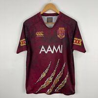 Canterbury Queensland Maroons NRL Jersey Medium Short Sleeve Round Neck