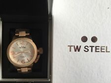 TW STEEL: CB165. AUTOMATIC. 45mm. Silver Dial & Rose Gold. RRP £360.