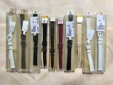 Lotto 10 Cinturini orologi Pelle vera 10mm-Vintage/3xHIRSCH-6xREWA-1xRITTER-(L2)