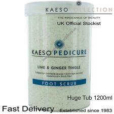 FOOT SCRUB HUGE TUB Lime & Ginger Tingle Pedicure Treatment Feet KAESO 1200ml