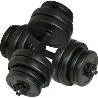 Set manubri con pesi intercambiabili Palestra pesi fitness 2x15 Kg