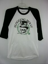 Flogging Molly Adult Mens Small Baseball T-Shirt NEW White/Black