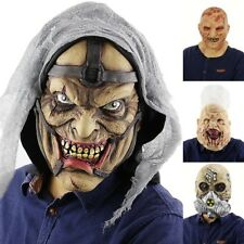 Cosplay Prop Halloween Scary  Bloody Head Cover Horror Skull Face  Props