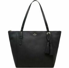 NWT Kate Spade Maya Large Leather Tote w/ tassels Black WKRU5798 $358 Retail