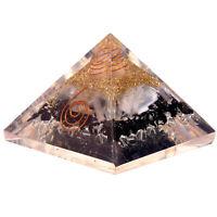 Schwarzer Turmalin & Selenit Kristall Orgonit Pyramide Energieerzeuger