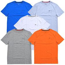 Tommy Hilfiger T-shirt Mens Crew Neck Pocket Tee Flag Logo Short Sleeve New Nwt