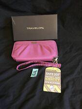 LADIES TRAVELON ZIP WALLET/ NEW WITH TAGS/rfid blocking wristlet strap