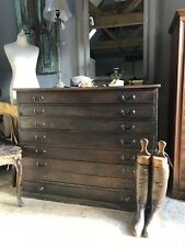 VINTAGE INDUSTRIAL PLAN CHEST ARCHITECTS DRAWERS