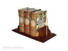 new 3 mini books set hardcover Historias con Valores Español with wooden stand