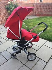 Silver Cross Surf Pram in Chilli Red with car seat