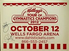 SHAWN JOHNSON NASTIA LIUKIN AUTOGRAPHED TOUR OF CHAMPIONS EVENT SIGN