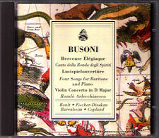 BUSONI Berceuse Elegiaque Violin Con CD Fischer-Dieskau Gielen Barenboim Boult