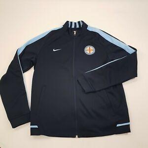 Melbourne City Nike Mens Large A League Volunteer Zip Up Jacket Football Soccer