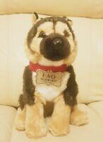 FAO Schwarz Toy Plush Puppy Floppy German Shepherd 10 Inch