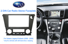 2 DIN Car Radio Stereo Faceplate for Subaru Legacy/Outback (2006 - 2009) LHD