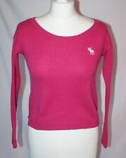 Abercombie Kids Girls pink cropped jumper size M (11-13)
