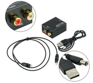 Digital to Analog Stereo Audio Converter Optical or Coaxial to RCA Line SPDIF