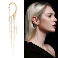 Earrings Retro Drop Ear Hook Dangle Women Grils Long Tassel Pearl New Fashion