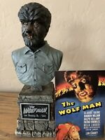 Sideshow Collectibles The Wolfman Lon Chaney Jr Universal Monsters Bust & Card