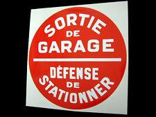 No Parking Sticker for French Garage Display - Citroen 2CV DS Renault 4 DS19