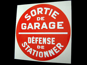 No Parking Sticker for French Garage Display - Retro Classic Vintage France
