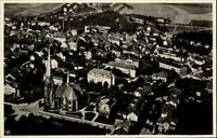 Hainichen Sachsen Postkarte ~1920/30 Teilansicht mit Kirche Luftbild ungelaufen
