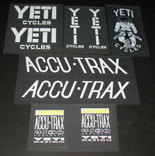 Yeti Fro 1988 Bicycle Decal Set