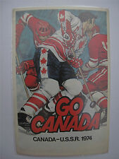 Russian Soviet USSR Canada Team Hockey Postcard to Bobby Hull 1974