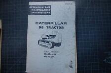 CAT Caterpillar D8 Tractor Crawler Dozer Operation Operator Maintenance Manual