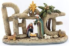 NIB Peace Nativity / Manger by Dicksons  Rustic Detailed Christmas Gift