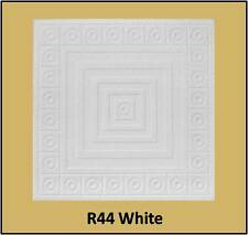 Glue Up Ceiling Tile Easy Installation R44W Antique White Behr Satin Lot of 8pcs